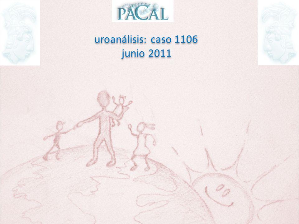 uroanálisis: caso 1106 paciente de sexo masculino de 24 años de edad asintomático, en tira reactiva reporta: gravedad específica: 1.005 pH: 7.5 proteínas: 300 mg/dL uroanálisis: caso 1106 paciente de sexo masculino de 24 años de edad asintomático, en tira reactiva reporta: gravedad específica: 1.005 pH: 7.5 proteínas: 300 mg/dL Las siguientes imágenes pertenecen al sedimento urinario del paciente