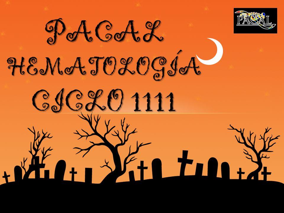 PACAL HEMATOLOGÍA CICLO 1111