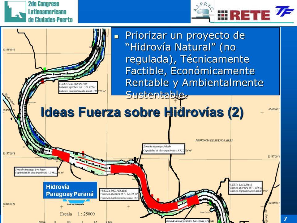 30 de Abril, 1 y 2 de Mayo de 2007 – Hotel Conrad – Punta del Este - Uruguay 7 Priorizar un proyecto de Hidrovía Natural (no regulada), Técnicamente F