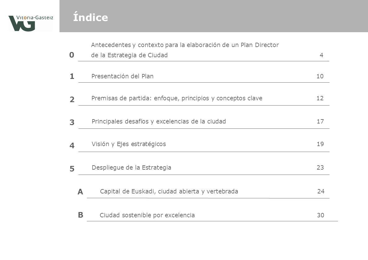 1 Presentación del Plan 10 2 3 4 5 A B Ciudad sostenible por excelencia30 Índice Premisas de partida: enfoque, principios y conceptos clave12 Principa