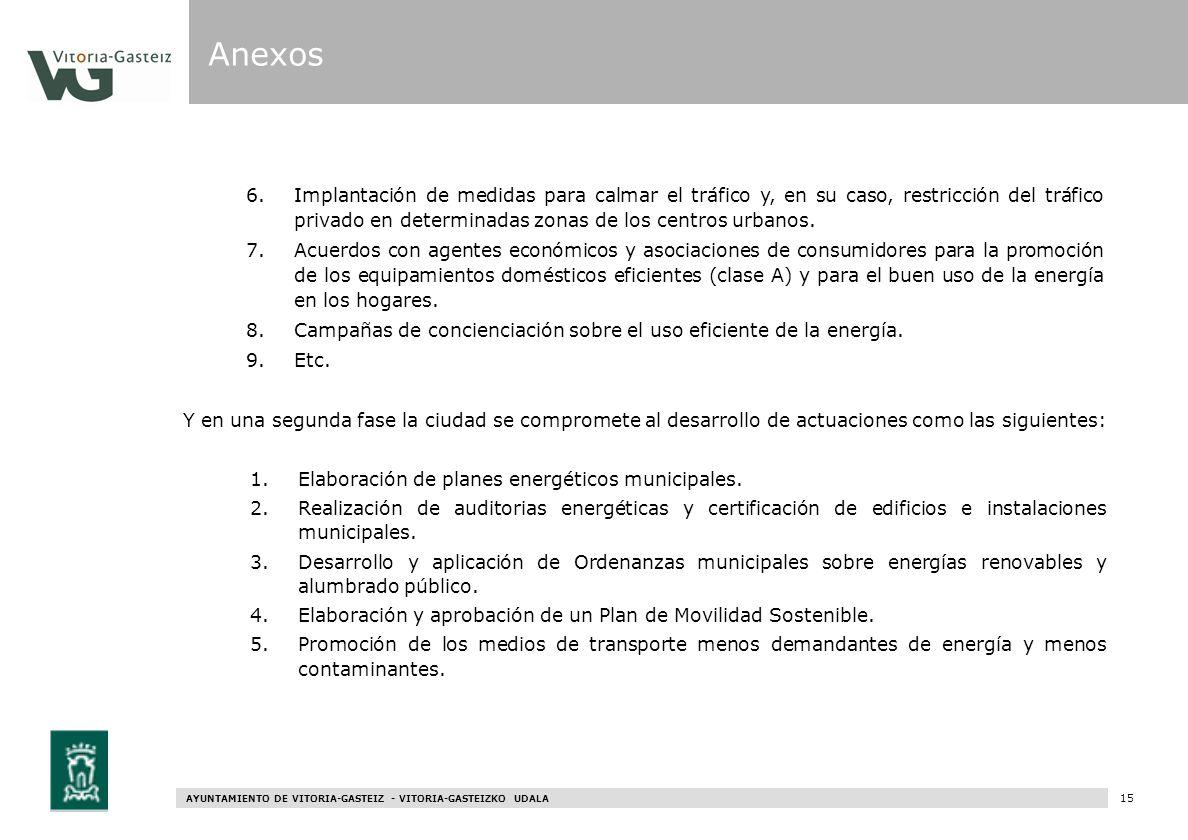 AYUNTAMIENTO DE VITORIA-GASTEIZ - VITORIA-GASTEIZKO UDALA 75 6.Implantación de medidas para calmar el tráfico y, en su caso, restricción del tráfico p