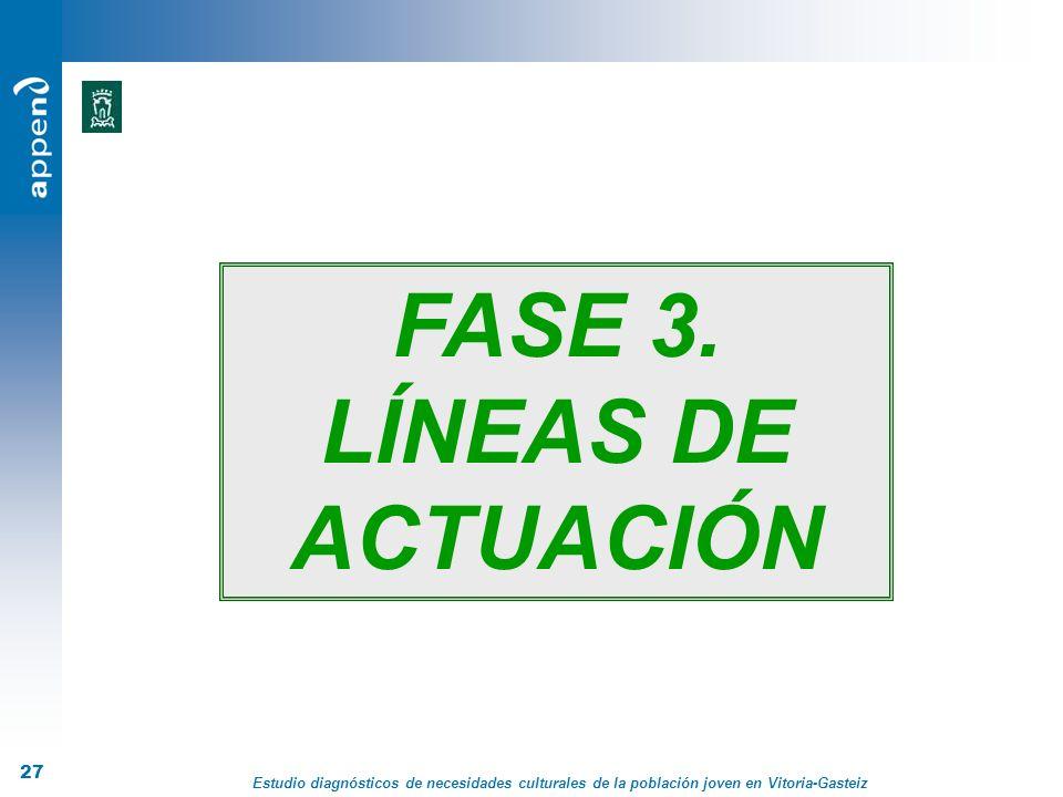 Estudio diagnósticos de necesidades culturales de la población joven en Vitoria-Gasteiz 27 FASE 3. LÍNEAS DE ACTUACIÓN