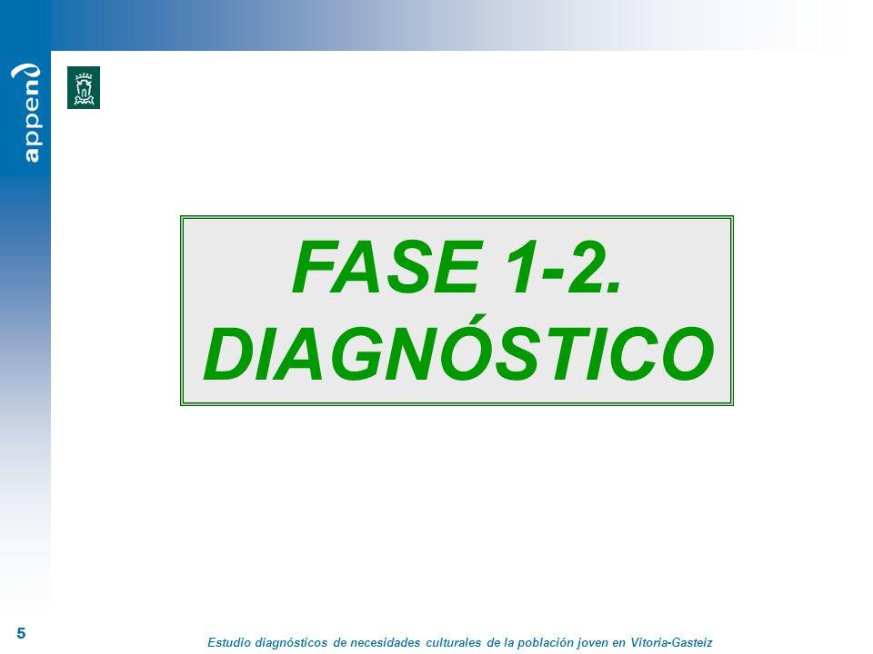 Estudio diagnósticos de necesidades culturales de la población joven en Vitoria-Gasteiz 36 LÍNEAS TRANSVERSALES Distinguir los distintos perfiles de jóvenes.