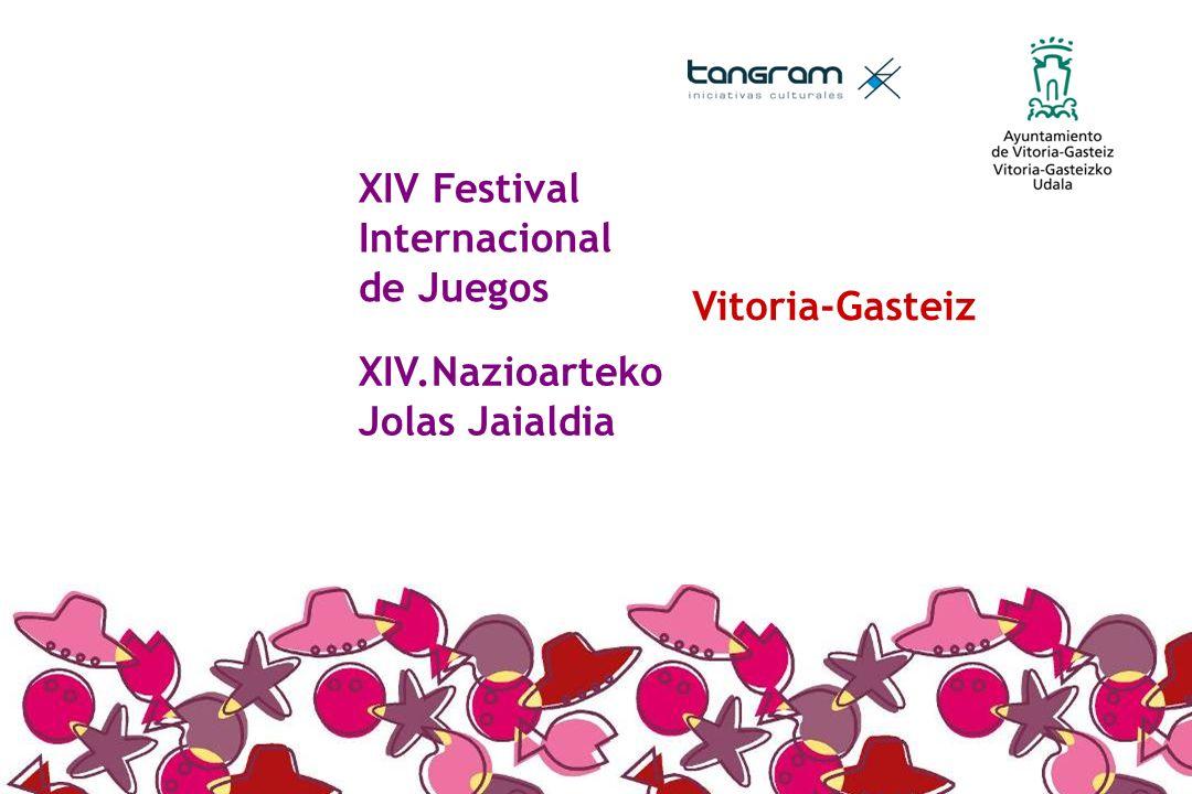 XIV Festival Internacional de Juegos XIV.Nazioarteko Jolas Jaialdia Vitoria-Gasteiz