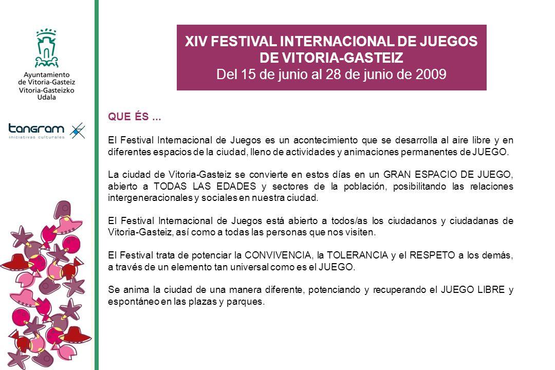 QUE ÉS... El Festival Internacional de Juegos es un acontecimiento que se desarrolla al aire libre y en diferentes espacios de la ciudad, lleno de act