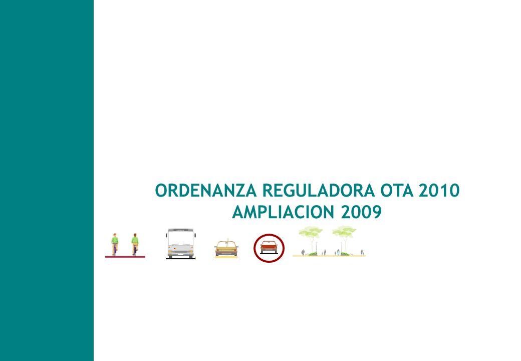 Plan de Movilidad y Espacio Público en Vitoria- Gasteiz ORDENANZA REGULADORA OTA 2010 AMPLIACION 2009
