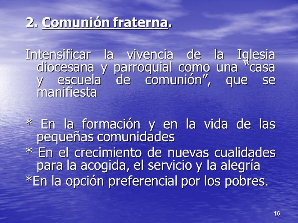 17 3.Participación laical.
