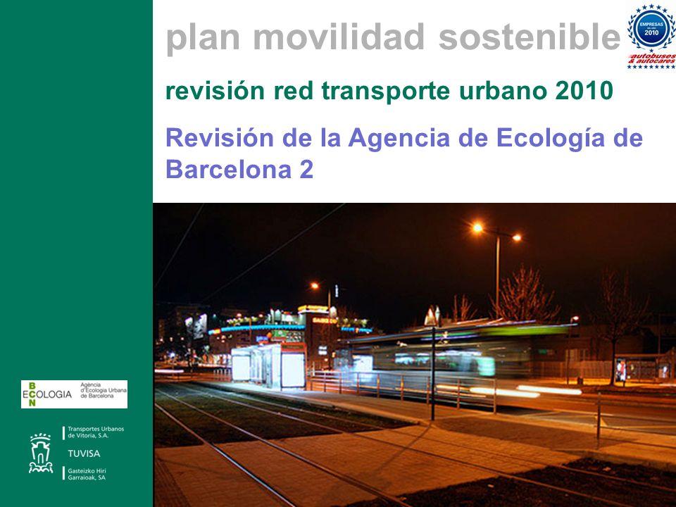 plan movilidad sostenible revisión red transporte urbano 2010 Revisión de la Agencia de Ecología de Barcelona 2