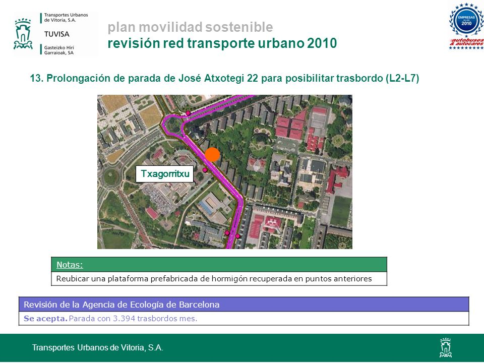 plan movilidad sostenible revisión red transporte urbano 2010 13.