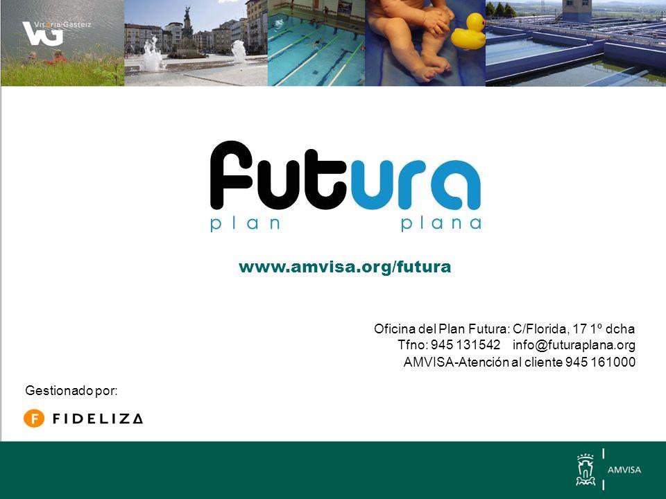 Oficina del Plan Futura: C/Florida, 17 1º dcha Tfno: 945 131542 info@futuraplana.org AMVISA-Atención al cliente 945 161000 Gestionado por: www.amvisa.org/futura