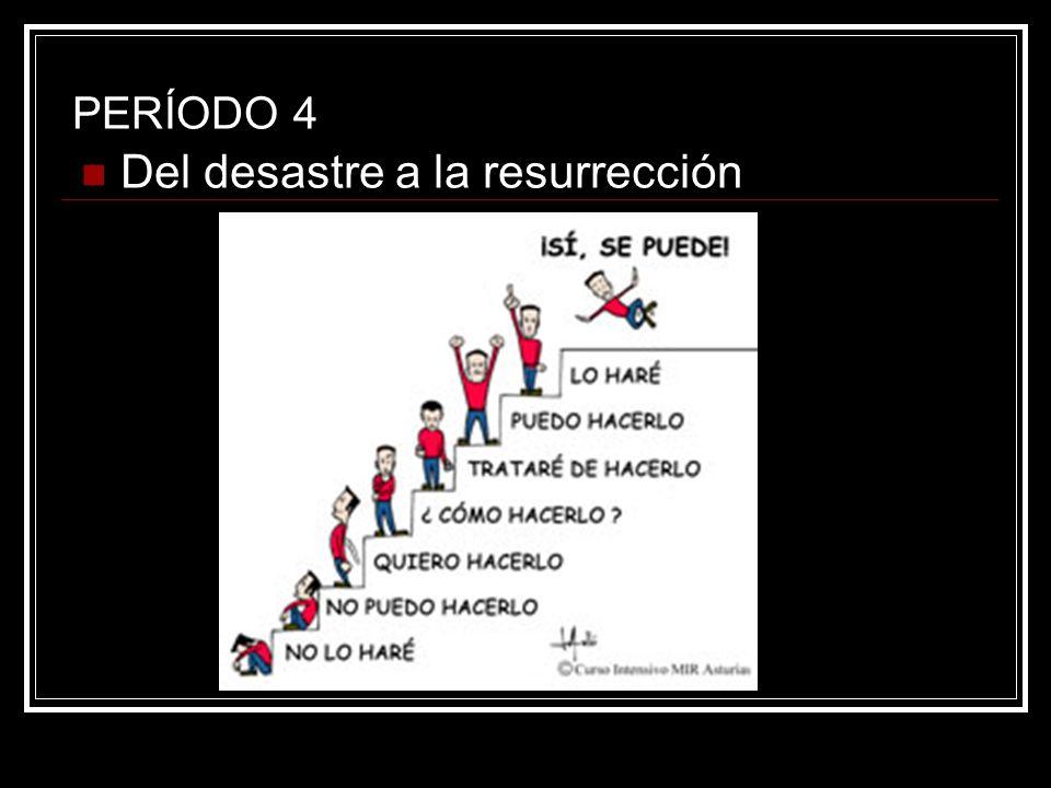 PERÍODO 4 Del desastre a la resurrección