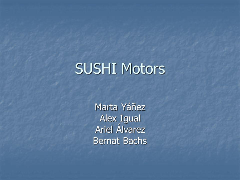 SUSHI Motors Marta Yáñez Alex Igual Ariel Álvarez Bernat Bachs