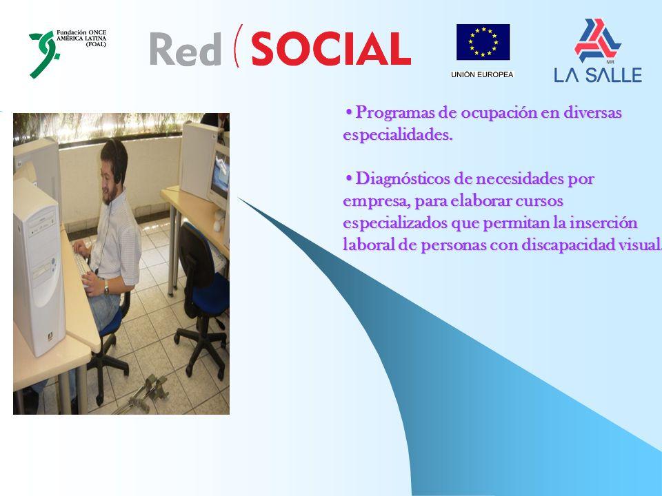 Programas de ocupación en diversasProgramas de ocupación en diversasespecialidades.