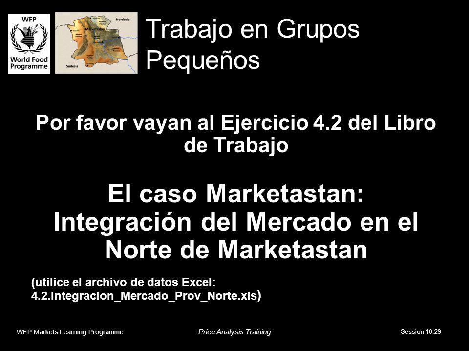 Por favor vayan al Ejercicio 4.2 del Libro de Trabajo El caso Marketastan: Integración del Mercado en el Norte de Marketastan (utilice el archivo de d