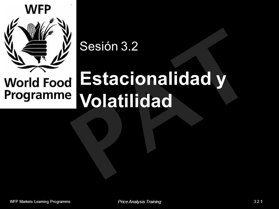 PAT Estacionalidad y Volatilidad Sesión 3.2 WFP Markets Learning Programme3.2.1 Price Analysis Training