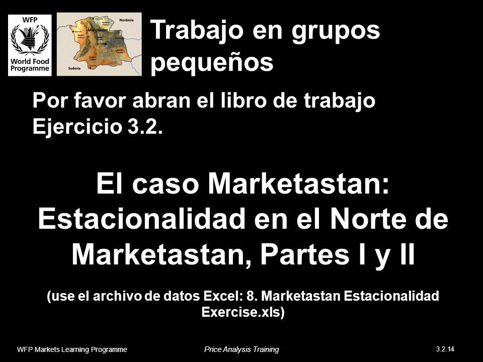 Por favor abran el libro de trabajo Ejercicio 3.2. El caso Marketastan: Estacionalidad en el Norte de Marketastan, Partes I y II (use el archivo de da