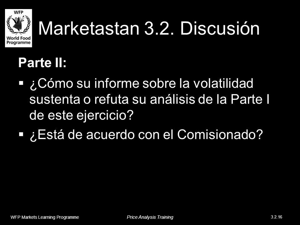 Marketastan 3.2. Discusión Parte II: ¿Cómo su informe sobre la volatilidad sustenta o refuta su análisis de la Parte I de este ejercicio? ¿Está de acu