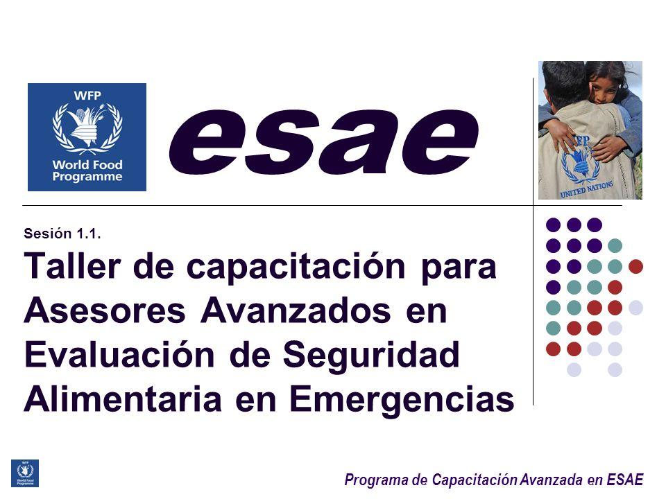 Programa de Capacitación Avanzada en ESAE 11 Vista general: ESAE, etapas & métodos 3 etapas clave del proceso analítico de la ESAE: 1.