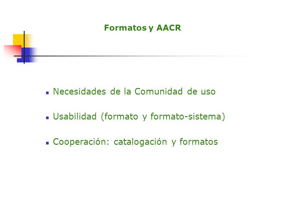 Intercambio de información y formatos ISO 2709 Archivos de texto estructurados XML PMH-OAI (DOAJ) Dublin Core Programas y formatos Cooperación e intercambio de información