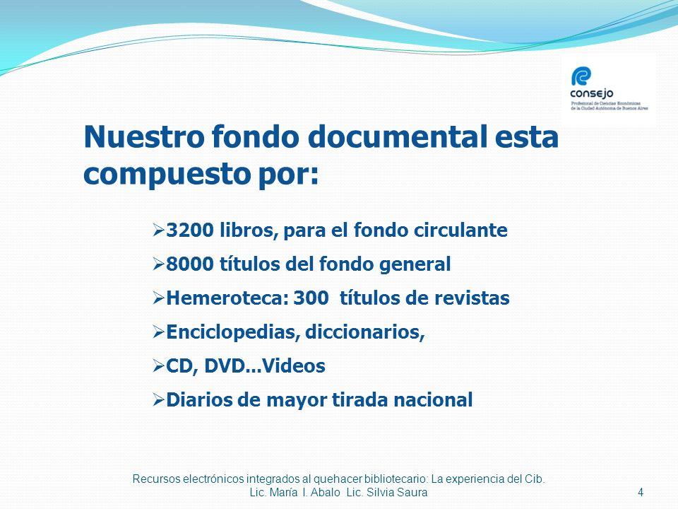 5 Toda la información, organizada por bibliotecarios especializados Confección de bibliografías a medida.