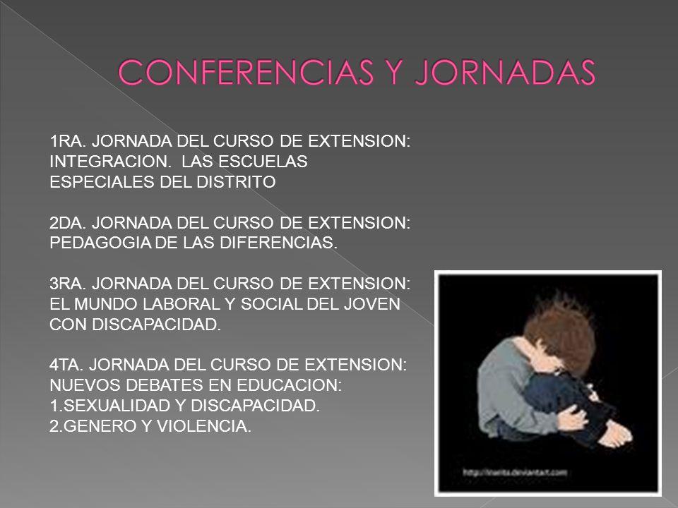 1RA. JORNADA DEL CURSO DE EXTENSION: INTEGRACION.