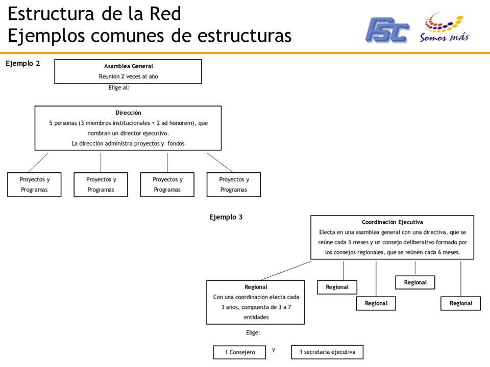 Estructura de la Red Ejemplos comunes de estructuras