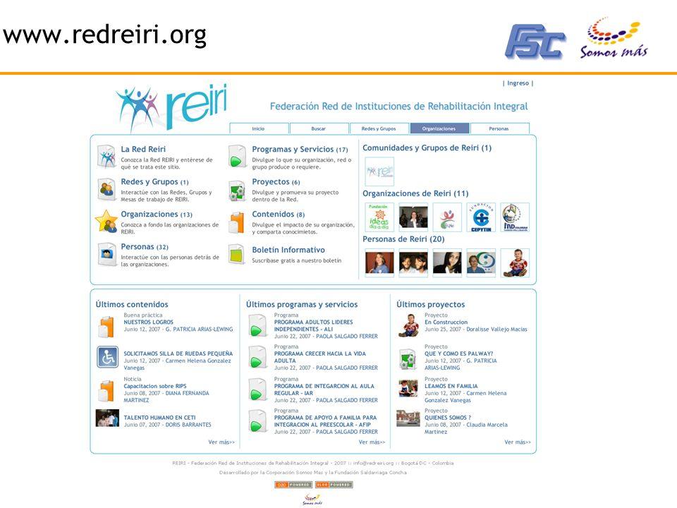 2007 - Corporación Somos Más - www.somosmas.org www.redreiri.org