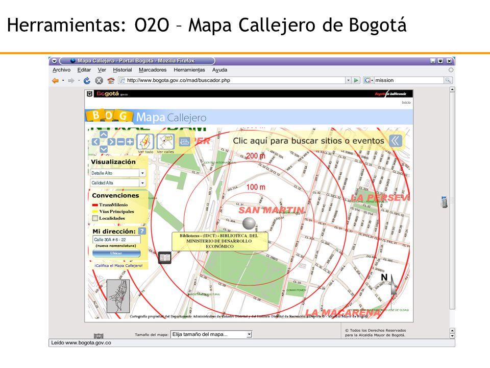 Herramientas: O2O – Mapa Callejero de Bogotá