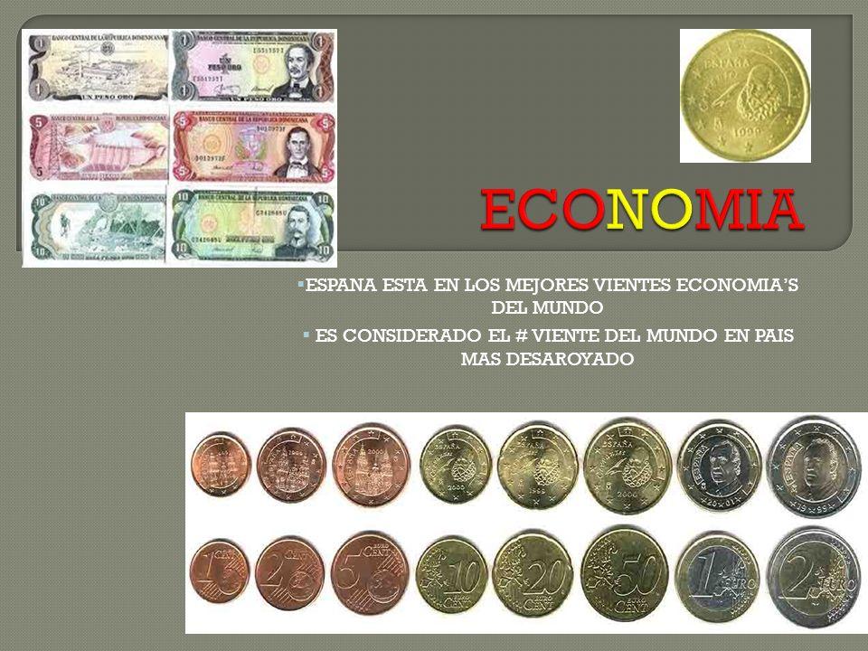 ESPANA ESTA EN LOS MEJORES VIENTES ECONOMIAS DEL MUNDO ES CONSIDERADO EL # VIENTE DEL MUNDO EN PAIS MAS DESAROYADO