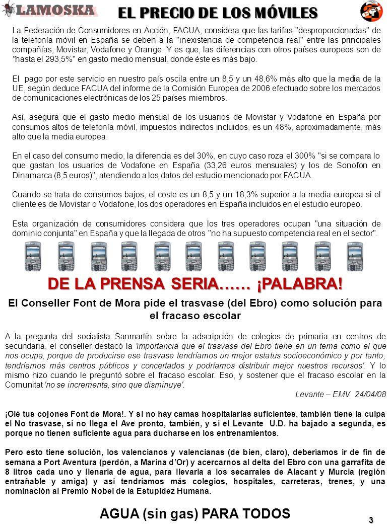 La Federación de Consumidores en Acción, FACUA, considera que las tarifas