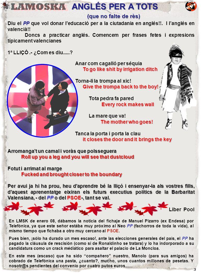3 PP Diu el PP que vol donar leducació per a la ciutadania en anglés!!.