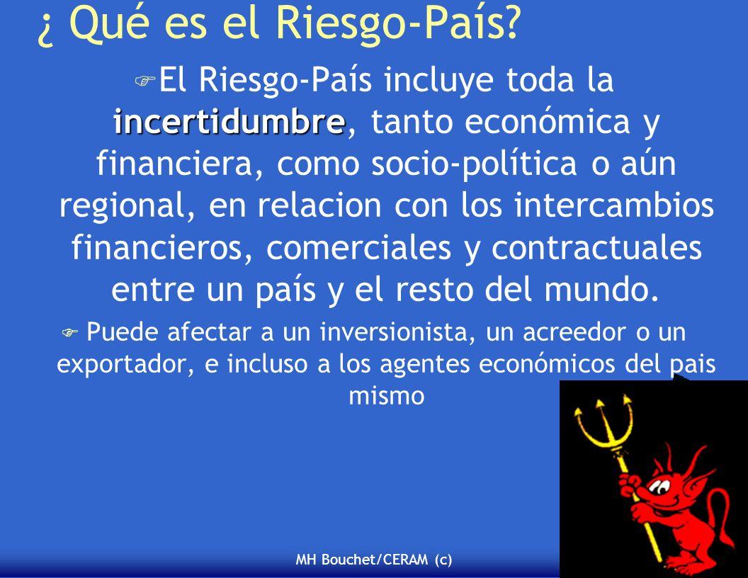MH Bouchet/CERAM (c) ¿ Qué es el Riesgo-País? incertidumbre F El Riesgo-País incluye toda la incertidumbre, tanto económica y financiera, como socio-p