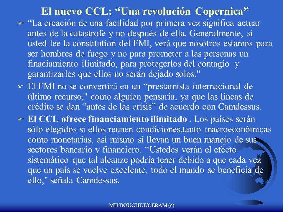 MH BOUCHET/CERAM (c) Servicios adicionales del FMI F 1. Facilidades de financiamiento compensatorio y de contingencia (1963) : para manejar escasez de