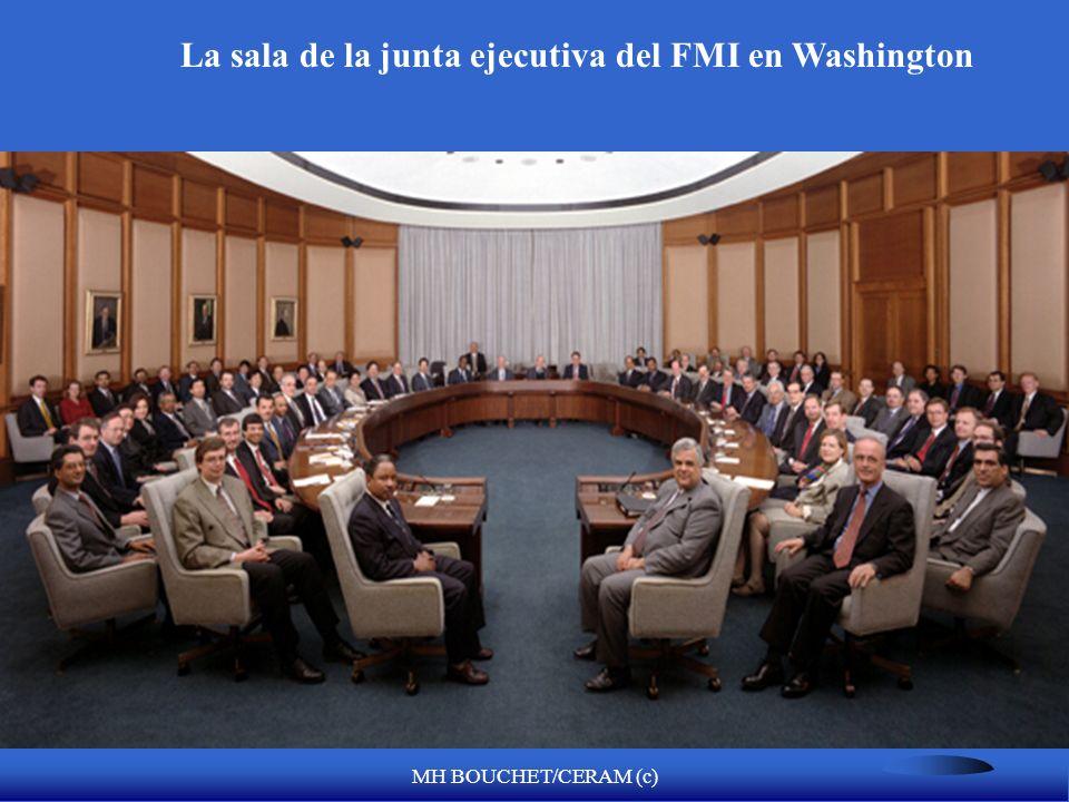 MH BOUCHET/CERAM (c) Limitaciones de las cuotas para ayuda financiera US$, £,, Oro 25% 75% PERU $960 millones FMI Moneda local Quota x 300% US$ < 2900 millones