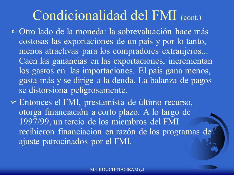 MH BOUCHET/CERAM (c) ¿En la práctica como interviene el Fondo en la economía de un pais? F La balanza de pagos es la clave para abrir la puerta de asi