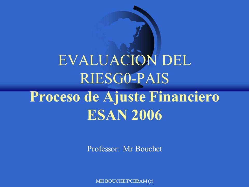 MH BOUCHET/CERAM (c) EVALUACION DEL RIESG0-PAIS Proceso de Ajuste Financiero ESAN 2006 Professor: Mr Bouchet