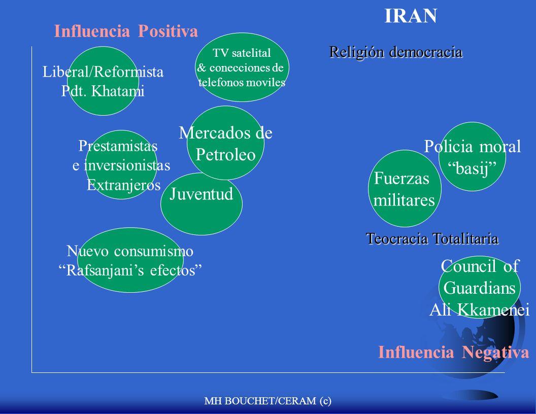 MH BOUCHET/CERAM (c) Influencia Positiva Influencia Negativa Ouattara RDR L. Gbgbo Armada FMI/Banco Mundial Prestamistas extranjeros e inversionistas