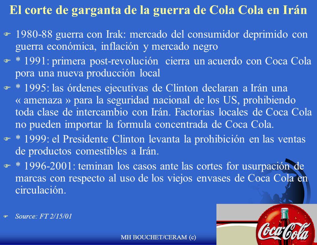 MH BOUCHET/CERAM (c) El corte de garganta de la guerra de Cola Cola en Irán F Antes de la revolución de 1979 : la más grande cervecería del medio orie