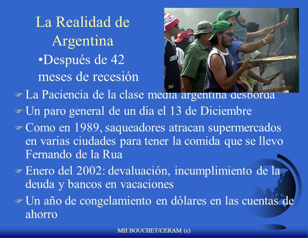 MH BOUCHET/CERAM (c) Principales Actores Políticos 2002 (III) F Mr. Fernando de la Rua: –presidente anterior –demostrationes masivas lo llevan a la pr