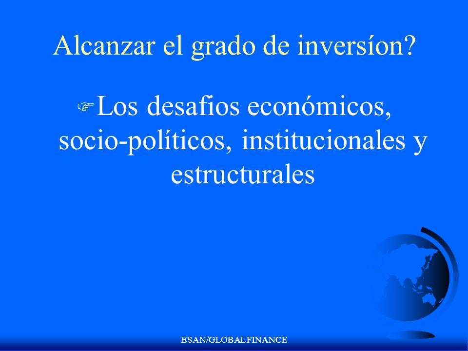 ESAN/GLOBAL FINANCE Alcanzar el grado de inversíon? F Los desafios económicos, socio-políticos, institucionales y estructurales