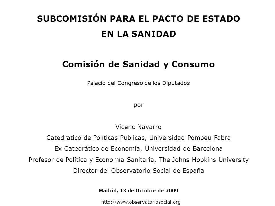 GASTO PÚBLICO EN PROTECCIÓN SOCIAL Vicenç Navarro (Ed.).