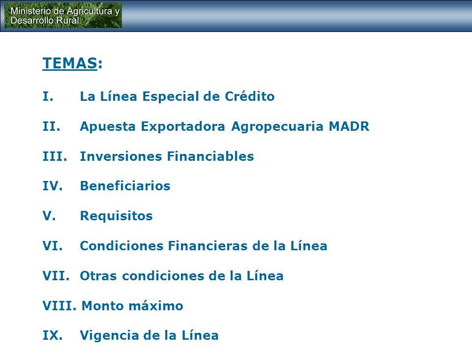AIS PROGRAMA AGRO, INGRESO SEGURO Línea especial de crédito para reconversión y mejoramiento de la productividad Ministerio de Agricultura y Desarrollo Rural REPUBLICA DE COLOMBIA