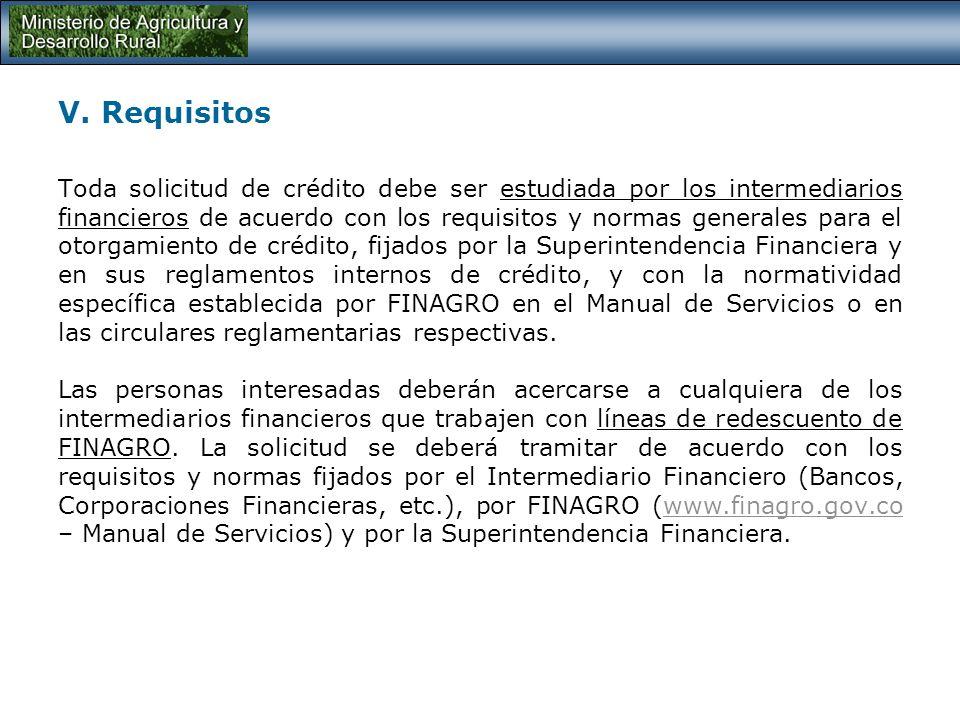 IV. Beneficiarios La Línea Especial de Crédito esta dirigida a todas las personas naturales y jurídicas que desarrollen proyectos de inversión en: Mej