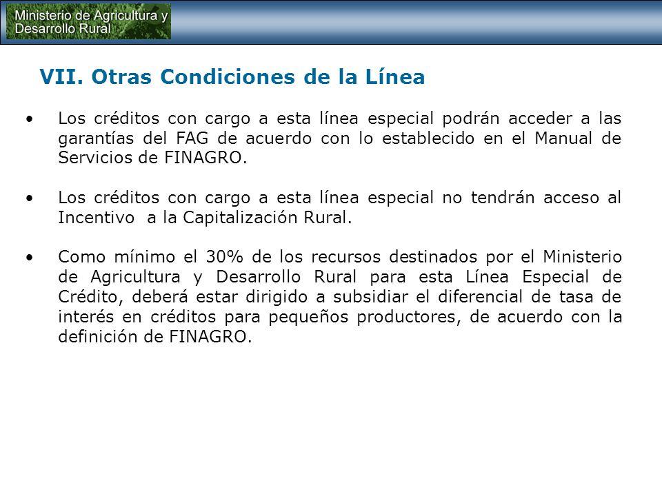 VI. Condiciones Financieras de la Línea El plazo máximo para el pago del crédito podrá ser de hasta 15 años y se podrán contemplar hasta 3 años de gra