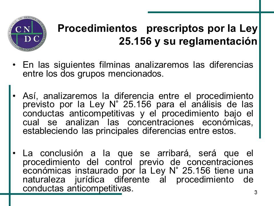 4 El procedimiento relativo a las conductas anticompetitivas llevadas a cabo por los agentes del mercado posee características propias del derecho penal.