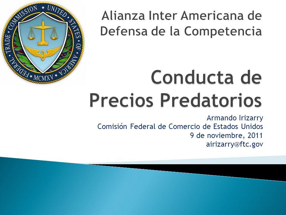 Armando Irizarry Comisión Federal de Comercio de Estados Unidos 9 de noviembre, 2011 airizarry@ftc.gov