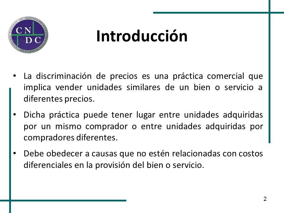 2 Introducción La discriminación de precios es una práctica comercial que implica vender unidades similares de un bien o servicio a diferentes precios
