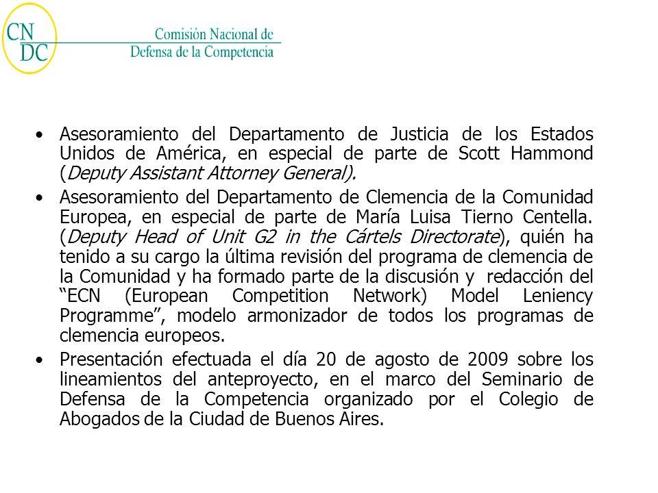 Análisis y discusión sobre institutos del anteproyecto en el VII Foro Latinoamericano de Defensa de la Competencia organizado por la OCDE y el BID, el que se llevara acabo los días 9 al 11 de septiembre en Santiago de Chile.