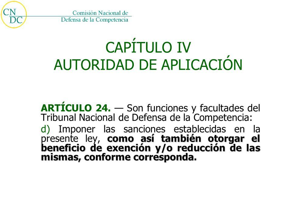 CAPÍTULO IV AUTORIDAD DE APLICACIÓN ARTÍCULO 24.