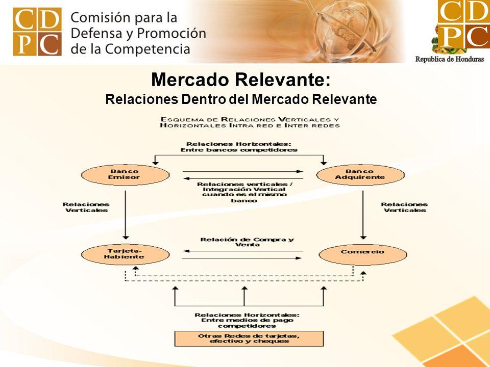 Mercado Relevante: Relaciones Dentro del Mercado Relevante